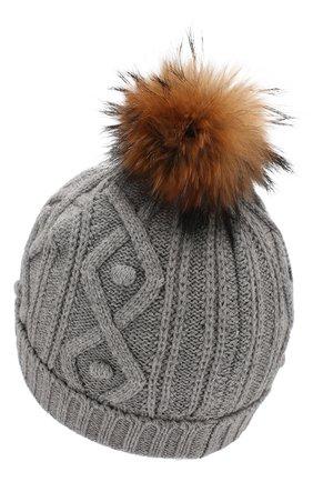 Детского шапка из хлопка и шерсти TARTINE ET CHOCOLAT серого цвета, арт. TP90032 | Фото 2