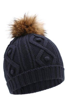 Детского шапка из хлопка и шерсти TARTINE ET CHOCOLAT темно-синего цвета, арт. TP90032 | Фото 1