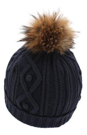 Детского шапка из хлопка и шерсти TARTINE ET CHOCOLAT темно-синего цвета, арт. TP90032 | Фото 2