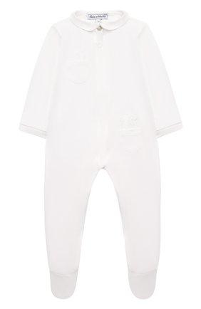 Детский хлопковый комбинезон TARTINE ET CHOCOLAT белого цвета, арт. TP54151/18M-3A | Фото 1