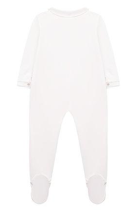 Детский хлопковый комбинезон TARTINE ET CHOCOLAT белого цвета, арт. TP54151/18M-3A | Фото 2