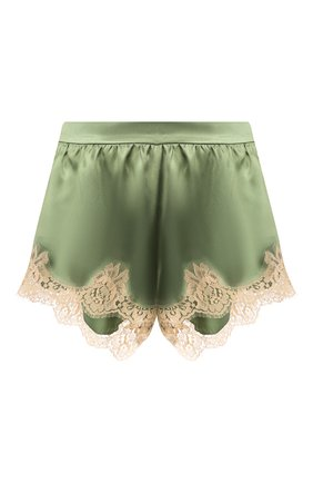 Женские шорты из смеси шелка и хлопка DOLCE & GABBANA зеленого цвета, арт. FTBMTT/FU1NU | Фото 1