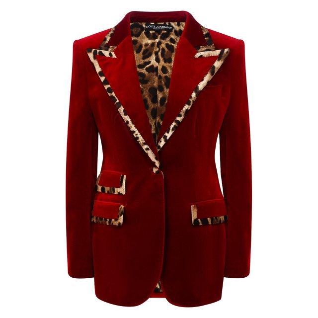 Жакет из смеси хлопка и шелка Dolce & Gabbana