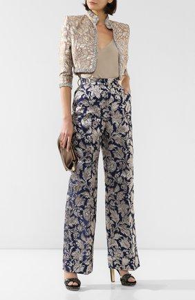 Женские брюки DOLCE & GABBANA темно-серого цвета, арт. FTBM0T/HJMHB | Фото 2