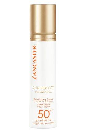 Женский солнцезащитный крем для сияния кожи лица spf 50 LANCASTER бесцветного цвета, арт. 3614225561870 | Фото 1
