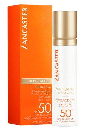 Женский солнцезащитный крем для сияния кожи лица spf 50 LANCASTER бесцветного цвета, арт. 3614225561870 | Фото 2