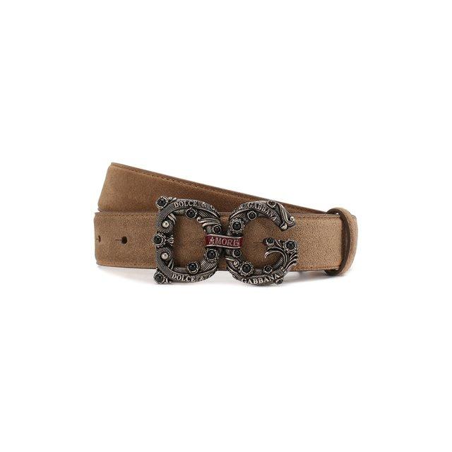 Замшевый ремень Dolce & Gabbana