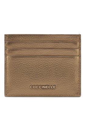 Женский кожаный футляр для кредитных карт COCCINELLE бронзового цвета, арт. E2 FW5 12 95 01 | Фото 1