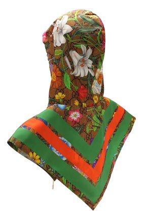 Женский капюшон GUCCI разноцветного цвета, арт. 609394/3G407 | Фото 2
