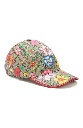 Женская бейсболка GUCCI разноцветного цвета, арт. 603986/4HI89 | Фото 1