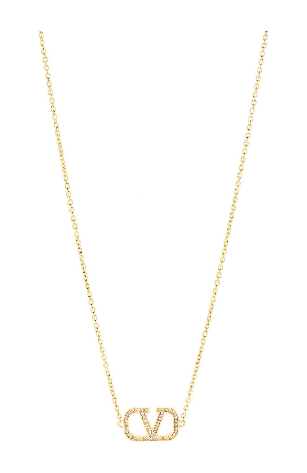 Женское колье valentino garavani vlogo VALENTINO золотого цвета, арт. TW2J0C37/YCW | Фото 2