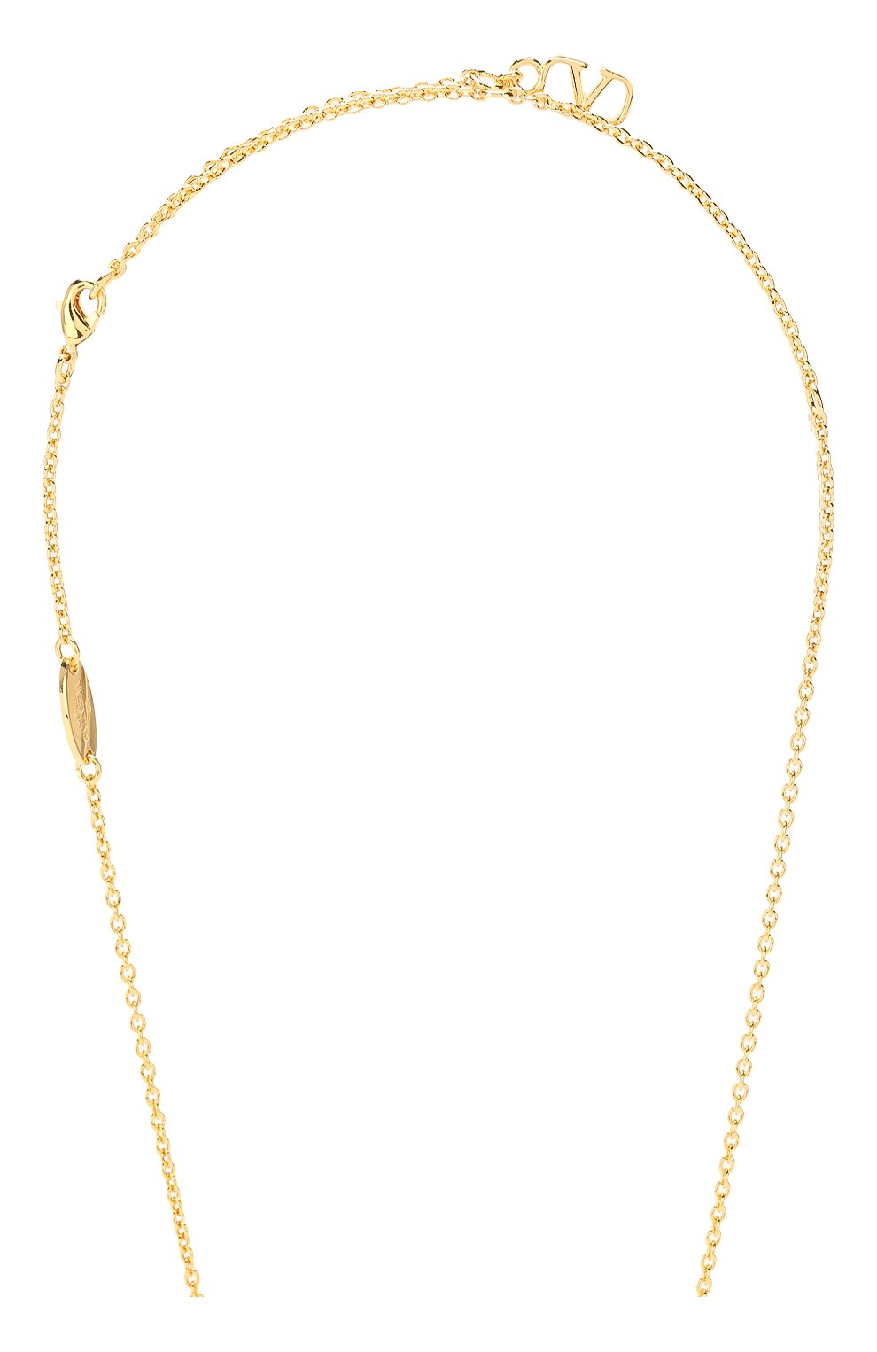 Женское колье valentino garavani vlogo VALENTINO золотого цвета, арт. TW2J0C37/YCW | Фото 3