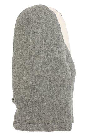 Женские пуховые варежки из кашемира LORO PIANA серого цвета, арт. FAI8761 | Фото 1