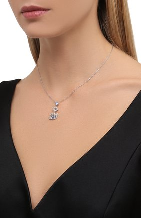 Женская кулон dazzling swan SWAROVSKI серебряного цвета, арт. 5530625   Фото 2