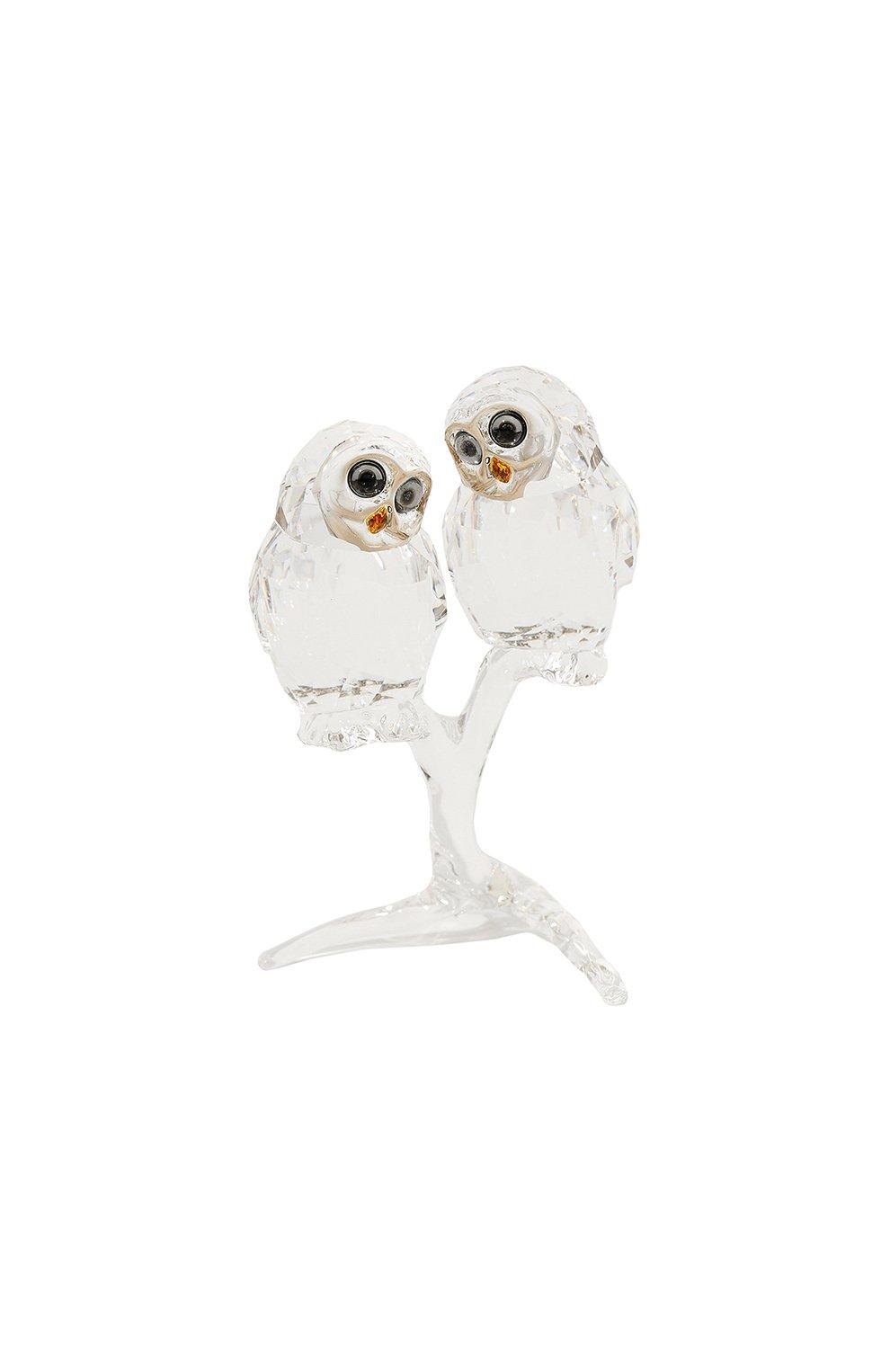 Мужского фигурка owl couple SWAROVSKI прозрачного цвета, арт. 5493722 | Фото 1