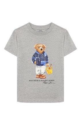 Детская хлопковая футболка POLO RALPH LAUREN белого цвета, арт. 323777150 | Фото 1