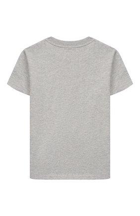 Детская хлопковая футболка POLO RALPH LAUREN белого цвета, арт. 323777150 | Фото 2
