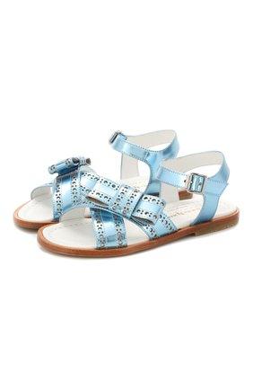 Детские кожаные сандалии MONTELPARE TRADITION синего цвета, арт. MT10854/18-27 | Фото 1
