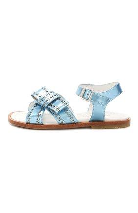 Детские кожаные сандалии MONTELPARE TRADITION синего цвета, арт. MT10854/18-27 | Фото 2