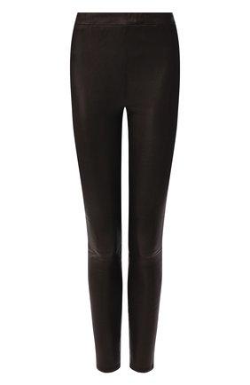 Женские кожаные леггинсы J BRAND черного цвета, арт. JB002246 | Фото 1