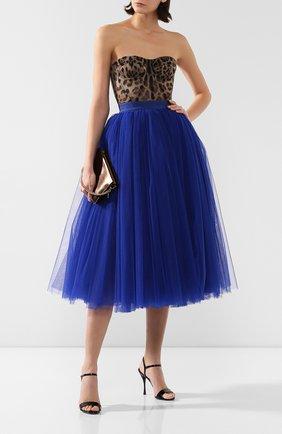 Женская юбка DOLCE & GABBANA синего цвета, арт. F4BRTT/HLM0U | Фото 2