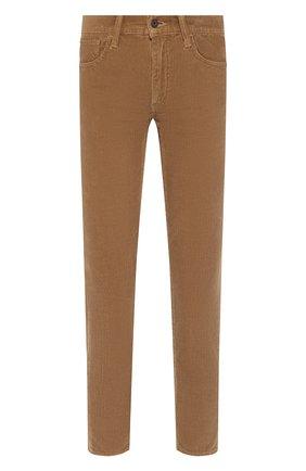 Женские вельветовые брюки MOUSSY коричневого цвета, арт. 025CAC11-2400 | Фото 1