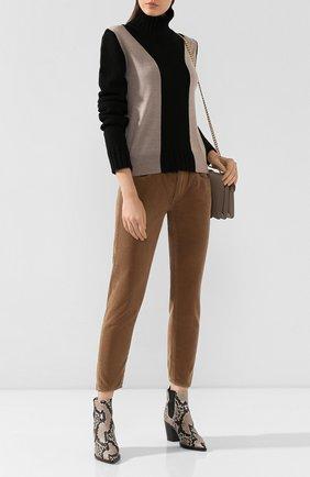 Женские вельветовые брюки MOUSSY коричневого цвета, арт. 025CAC11-2400 | Фото 2