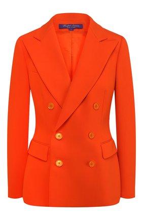 Женский шерстяной жакет RALPH LAUREN оранжевого цвета, арт. 290788634   Фото 1