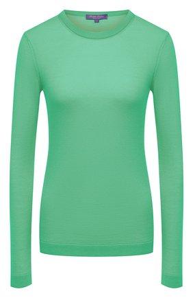 Женский кашемировый пуловер RALPH LAUREN зеленого цвета, арт. 290615194 | Фото 1