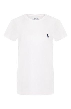 Женская хлопковая футболка POLO RALPH LAUREN белого цвета, арт. 211734144   Фото 1