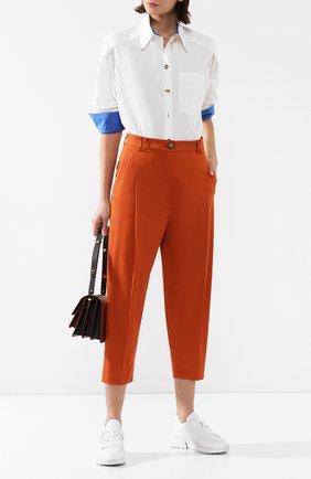 Женские хлопковые брюки ESCADA оранжевого цвета, арт. 5031948   Фото 2