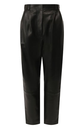 Женские кожаные брюки ALEXANDER MCQUEEN черного цвета, арт. 610858/Q5AC2 | Фото 1