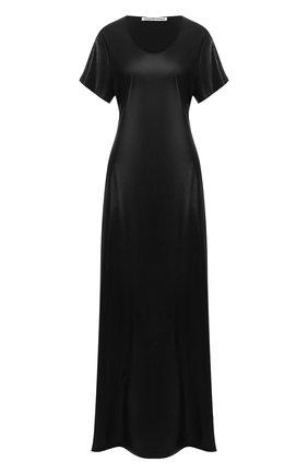 Женское платье-макси ALEXANDERWANG.T черного цвета, арт. 4WC1206016 | Фото 1