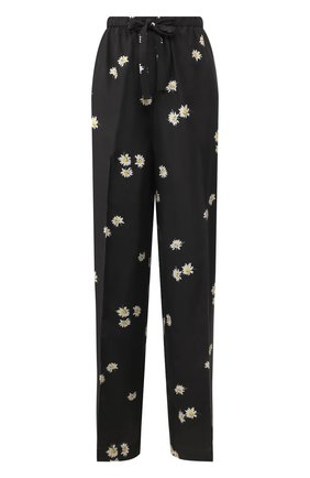 Женские шелковые брюки MARC JACOBS (THE) черного цвета, арт. V4000003 | Фото 1 (Материал внешний: Шелк; Женское Кросс-КТ: Брюки-одежда; Силуэт Ж (брюки и джинсы): Прямые; Длина (брюки, джинсы): Стандартные; Статус проверки: Проверена категория)