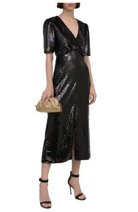 Женское платье с пайетками SALONI черного цвета, арт. 10155-02   Фото 2