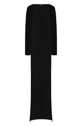 Женский кардиган из вискозы TOM FORD черного цвета, арт. CAJ008-FAX162 | Фото 1