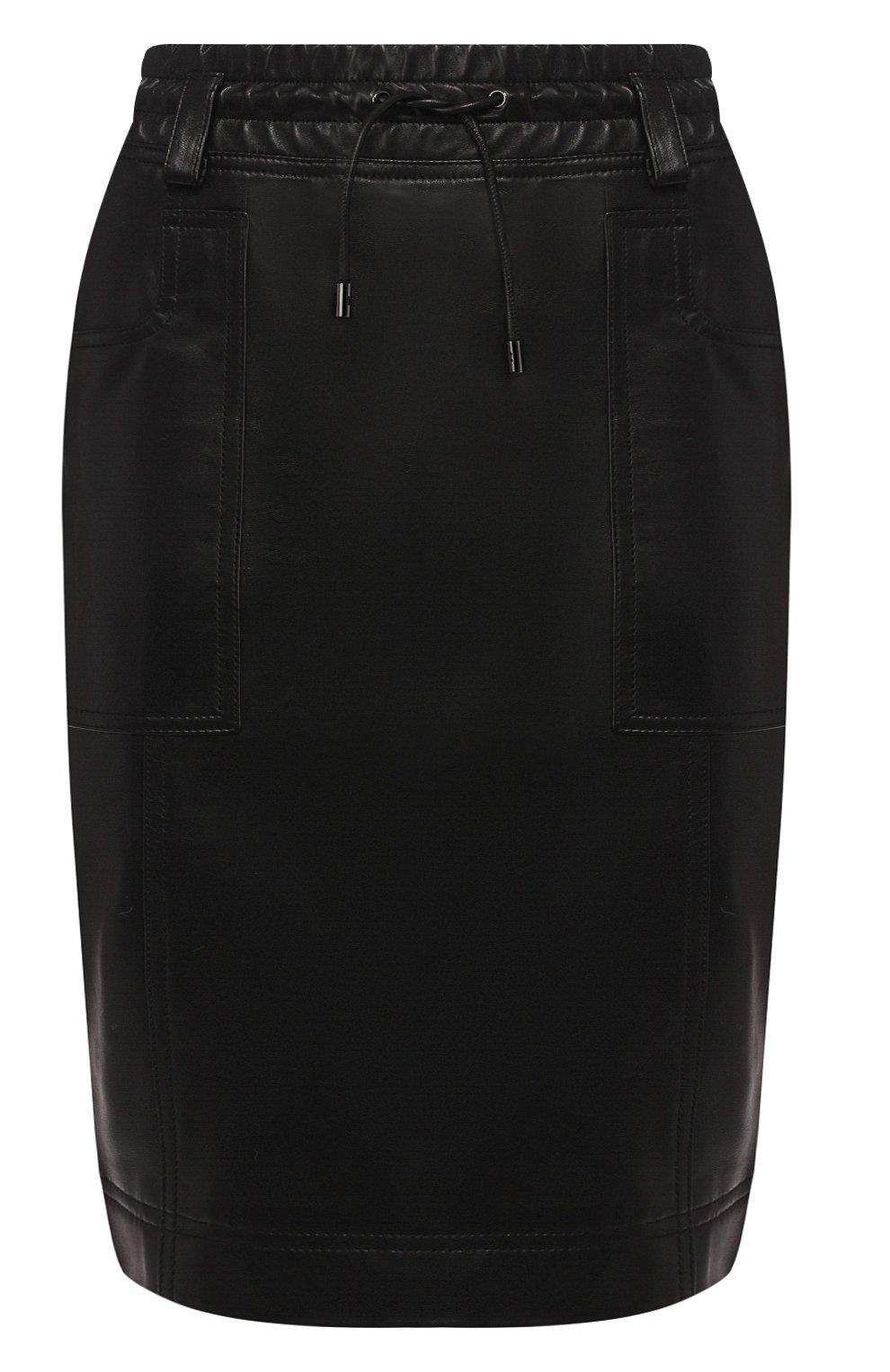 Женская кожаная юбка TOM FORD черного цвета, арт. GCL791-LEX228 | Фото 1
