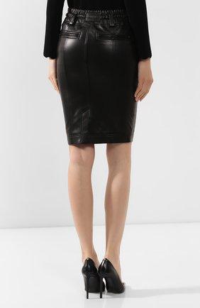 Женская кожаная юбка TOM FORD черного цвета, арт. GCL791-LEX228 | Фото 4