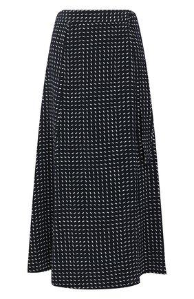 Женская шелковая юбка LORO PIANA темно-синего цвета, арт. FAL0756 | Фото 1