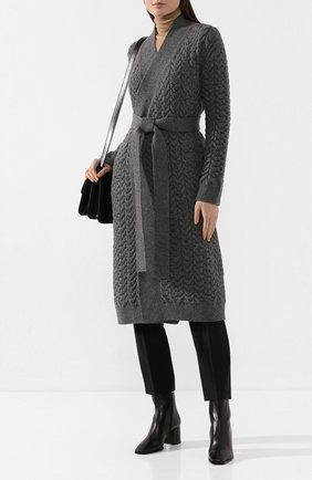 Женский кашемировый кардиган LORO PIANA серого цвета, арт. FAI8091 | Фото 2