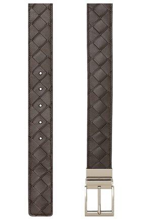 Мужской кожаный ремень BOTTEGA VENETA темно-коричневого цвета, арт. 611394/VCPQ1 | Фото 2