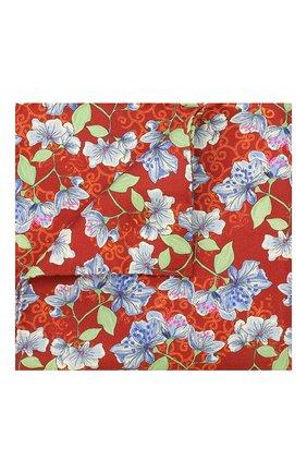 Мужской шелковый платок ETON красного цвета, арт. A000 32143 | Фото 1