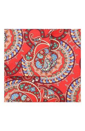 Мужской шелковый платок ETON красного цвета, арт. A000 32139 | Фото 1