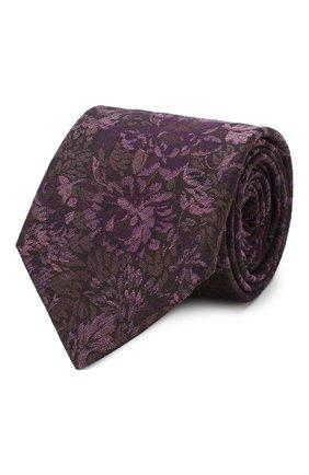 Мужской галстук из смеси шерсти и шелка ETON фиолетового цвета, арт. A000 32080 | Фото 1
