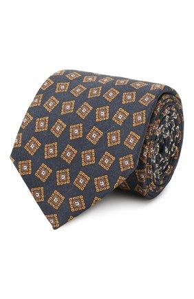 Мужской шелковый галстук ETON темно-синего цвета, арт. A000 32066 | Фото 1