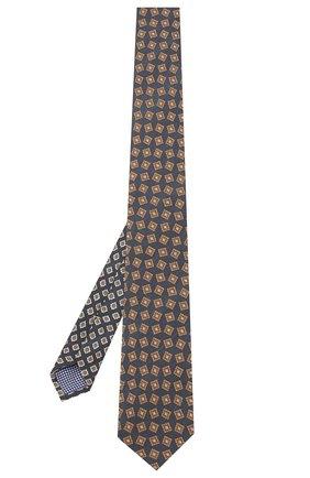 Мужской шелковый галстук ETON темно-синего цвета, арт. A000 32066 | Фото 2