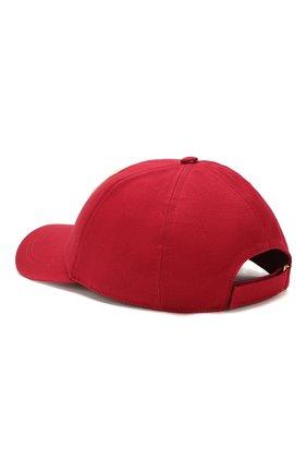 Мужской хлопковая бейсболка GUCCI красного цвета, арт. 599226/4HI16 | Фото 2