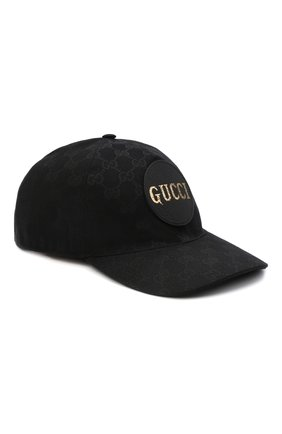 Мужской бейсболка GUCCI черного цвета, арт. 576253/4HG53 | Фото 1