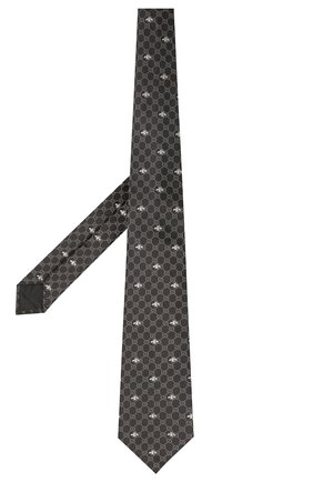 Мужской шелковый галстук GUCCI черного цвета, арт. 545078/4E002   Фото 2