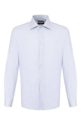 Мужская хлопковая сорочка CANALI голубого цвета, арт. XX05/GF01856 | Фото 1